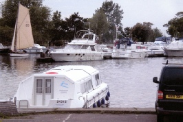Swancraft boat moored at Oulton Broad