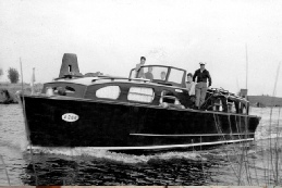 Fairwind in 1952 hired from Graham Bunn &Co in Wroxham. Kindly donated by John Gaisford.
